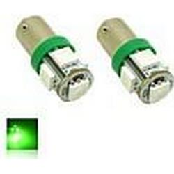 BAX9S H6W 1W SMD 5X5050 Green Lights LED-Glühlampe für Auto-Lampe (DC 12V, 2-Pack)
