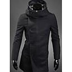 Herren-Korea-Art-Nylon Hoodie Trenchcoat