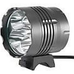 5T6 3-Mode 5xCree XM-L T6 Wiederaufladbare Fahrradbeleuchtung (4x18650, 4500LM, Grau)