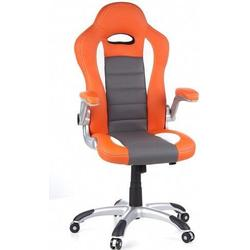 Gaming Stuhl / Bürostuhl RACER SPORT orange / weiß hjh OFFICE
