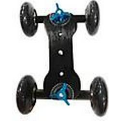 4 Wheel Desktop-DSLR-Kamera Film Photograph Rail Track Slider Tabelle Dolly Auto (schwarz)
