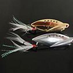 New Entwurf Angeln 3-Haken mit Fisch-Shaped Metall Lure (10g, 14g, 22g, Farbe Ramdon)