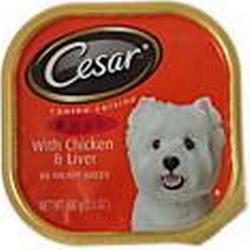 Cesar wählen Abendessen Huhnamp;Leber Hund Essen
