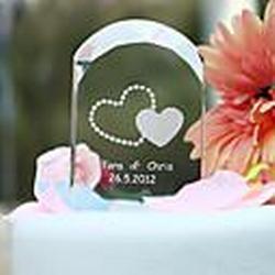 personalisierte Kristall gewölbten Hochzeitstorte-Deckel