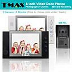 """TMAX 8"""" LCD Video Door Phone Support Photograph SD Card Recording  with  600TVL HD IR Camera"""