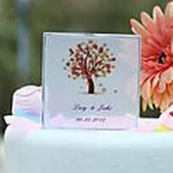 Herbst Baum personalisierte Print-Hochzeitstorte-Deckel