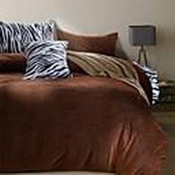 hamp;c  Biber Bettwäsche Set 4 Stück solide und Zebramuster nordischen Stil