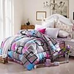 shuian Decke Winter Quilt warm halten Verdickungs Quilts mit Druckgittermuster