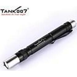 TANK007 e11 3-Modus 1x Cree XR-E Q5 LED Mini Taschenlampe / caplamp Taschenlampe (120lm, 2xAAA, schwarz)