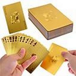 Luxus 24k Goldfolie Poker Spielkarten Spiele mit Box gutes Geschenk