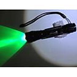 WF-502B Rechargeable1-Mode 1xCree XR-E Q5 Wasserdicht Green Light Fahrradbeleuchtung (1x18650, 350LM, Schwarz)