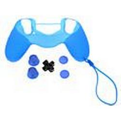 PS4 schützende Silikonhülle mit Kette  D-Pad  Rocker Cap  rutschfeste Silikon-Kappe Set