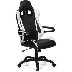 Gaming Stuhl / Bürostuhl RACER PRO I Kunstleder schwarz/weiß hjh OFFICE
