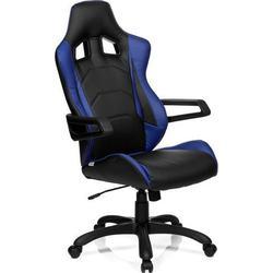 Gaming Stuhl / Bürostuhl RACER PRO I Kunstleder schwarz/blau hjh OFFICE