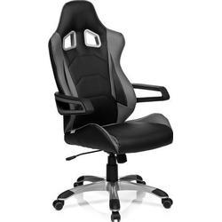 Gaming Stuhl / Bürostuhl RACER PRO I Kunstleder schwarz/grau hjh OFFICE