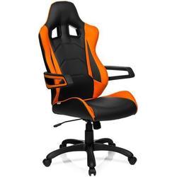 Gaming Stuhl / Bürostuhl RACER PRO I Kunstleder schwarz/orange hjh OFFICE