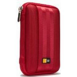 Case Logic QHDC101R Portable Harddrive Case 6,3 cm (2,5 Zoll) für externe Festplatten Rot
