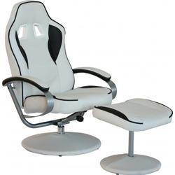 * Loungechair / Relaxsessel GAMER PRO WH 110 Kunstleder weiss / schwarz