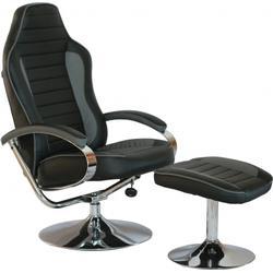 Loungechair / Relaxsessel GAMER PRO WH 110 Kunstleder schwarz / weiß