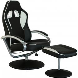 * Loungechair / Relaxsessel GAMER PRO WH 100 Kunstleder schwarz / grau