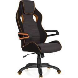 Gaming Stuhl / Bürostuhl RACER PRO III Stoff schwarz/grau/orange  hjh OFFICE