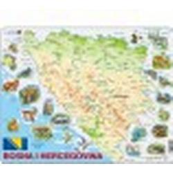 Rahmenpuzzle - Bosnien und Herzegowina und seine Tiere (auf Bosnisch)