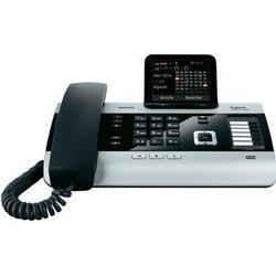 Gigaset DX600A Komfort Telefon, Schnurgebundes Telefon, Anrufbeantworter, Schnurtelefon, ISDN Farbdisplay, Dect/Telefon, Freisprechen, Telefon, schwarz