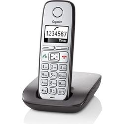 Gigaset Schnurloses Seniorentelefon E310 Freisprechen Beleuchtetes Display Silber, Anthrazit