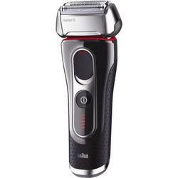 Braun Series 5 Elektrischer Rasierer 5090cc, mit Reinigungsstation Clean&Charge, schwarz/silber/rot