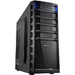Sharkoon Technologies REX3 Value Midi/Tower PC/Gehäuse (ATX, 3x 5,25 externe, 1x 3,25 externe, 4x 3,5 interne, 2x USB 3.0, 4x USB 2.0) schwarz