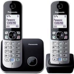 Panasonic KX/TG6812GB DECT/Schnurlostelefon (4,6 cm (1,8 Zoll) Grafik/Display) schwarz