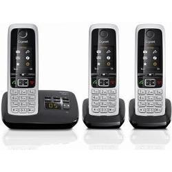 Gigaset C430A Trio Schnurlostelefon mit AB schwarz + 2x Mobilteile C430H