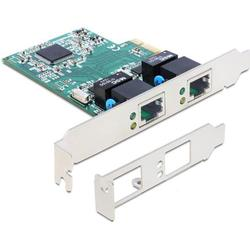 delock pci express card > 2 x gigabit lan - netzwerkkarte - pci-express - 1 gbps 89358
