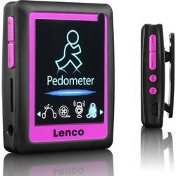 Lenco Podo/152 MP4 Player mit integriertem Schrittzähler inkl. Ohrhörer (4,6 cm (1,8 Zoll) LCD/Bildschirm, 4GB interne Speicher, SD/Kartenslot, USB, E/Book Funktion) rose