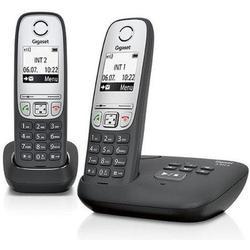 Gigaset A415A Duo Schnurlostelefon schwarz
