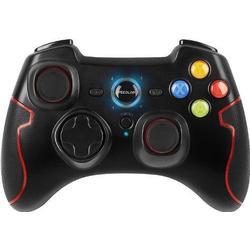 Speedlink Torid kabelloses Gamepad für PC/PS3 (bis zu 10 Stunden Spielzeit, X/Input und Direct/Input, Vibrationsfunktion, Schnellfeuerfunktion) schwarz
