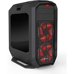 Corsair CC/9011063/WW Graphite Series 780T Seitenfenster Full/Tower ATX Performance LED Gaming Gehäuse, Schwarz mit Roten LED Lüfter