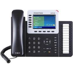 Grandstream Systemtelefon,VoIP GXP-2160 Bluetooth, Headsetanschluss Farbdisplay Schwarz, Silber