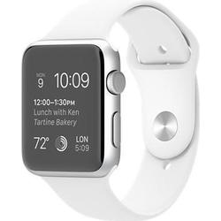 Apple Watch Sport Silver Aluminium 42mm weiß