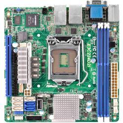 ASRock E3C224D2I 2xGL/SATA600/USB3.0/VGA/Seriell Mini-ITX Sockel 1150