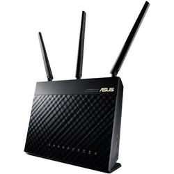 Asus RT-AC68U Router (AiMesh, WiFi 5 AC1900, 4x Gigabit LAN, App Steuerung, AiProtection, Multifunktion-USB 3.0)