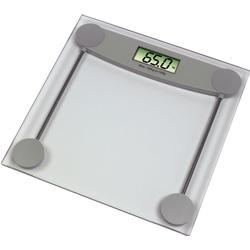 Xavax Digitale Personenwaage für Körpergewicht, Ultraflach, Melissa, Transparent/Grau