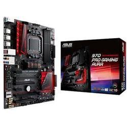 Asus 970 PRO GAMING/AURA Mainboard Sockel AM3+ (ATX, AMD 970/SB950, 4x DDR3 Speicher, 6x SATA 6b/s, 2x USB 3.1, 8x USB 2.0, PCIe 2.0, RGB)