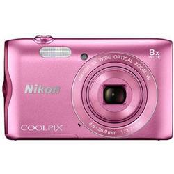 NIKON COOLPIX A300 Kompaktkamera Pink, 20.1 Megapixel, 8x opt. Zoom, TFT