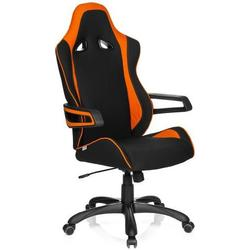 Gaming Stuhl / Bürostuhl RACER PRO II Stoff schwarz/orange hjh OFFICE