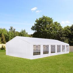 Partyzelt 5x12m PE weiß Gartenzelt, Festzelt, Pavillon