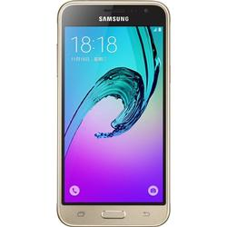 Samsung Galaxy J3 DUOS Smartphone (12,63 cm (5 Zoll) HD Super/AMOLED/Touchscreen, 8 GB, Android 5.1 Lollipop) weiß