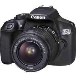 Canon Digitale Spiegelreflexkamera EOS 1300D Kit inkl. EF-S 18-55 mm IS II 18 Mio. Pixel Schwarz Fu