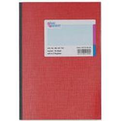 K&E Geschäftsbuch, Glanzkarton, kariert, Register, A5, Einbandfarbe: rot, 96 Blatt