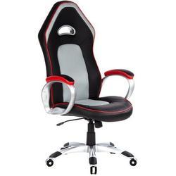 Gaming Stuhl / Bürostuhl PACE 200 Kunstleder schwarz/rot/grau hjh OFFICE